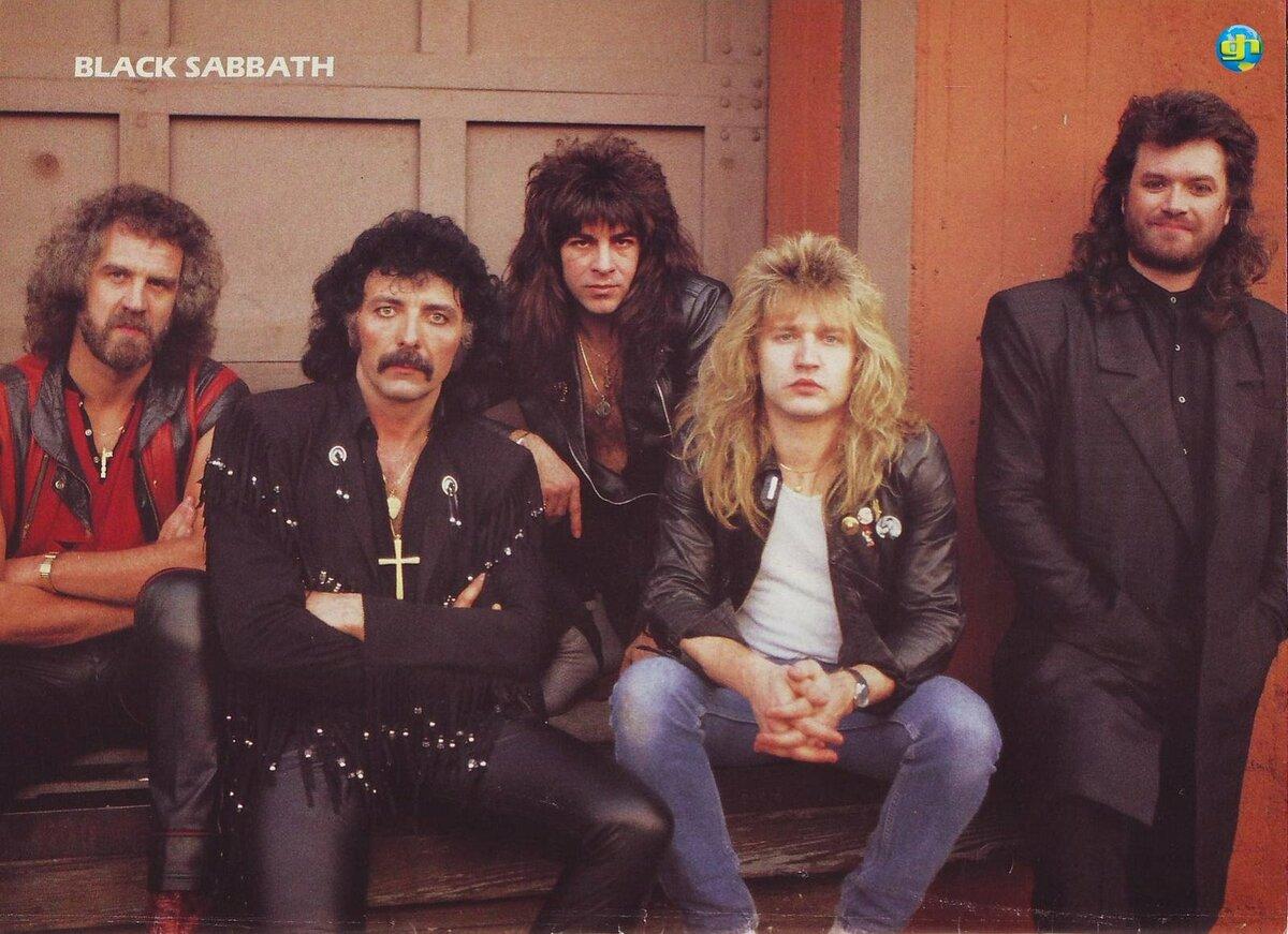 Black Sabbath with Glenn smiling