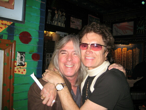 Glenn with Cliff Williams