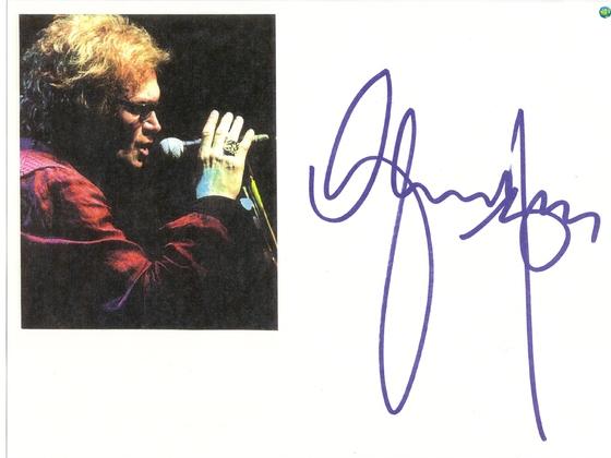Glenn's autograph