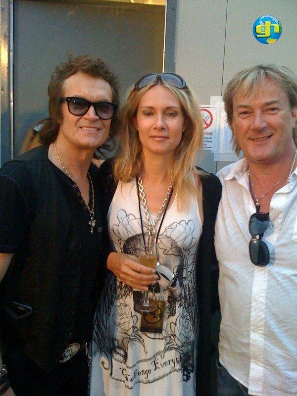 Glenn, Maria Iommi and Geoff Downes
