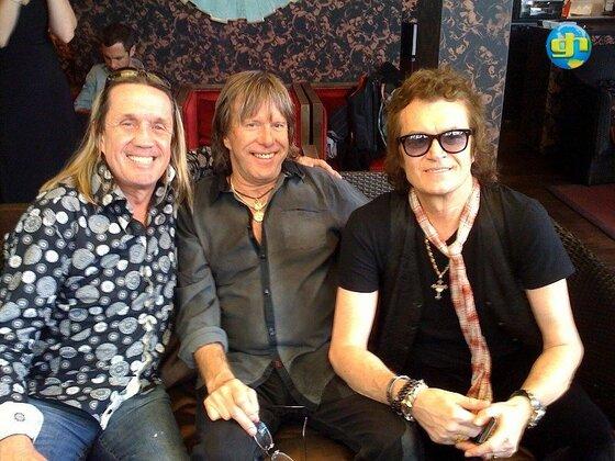 Glenn with Nico McBrain and Keith Emerson