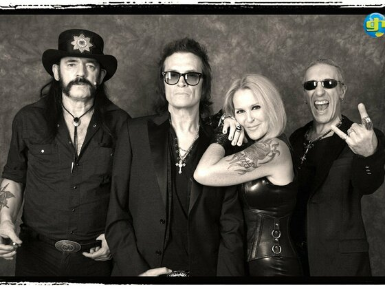 Glenn with Lemmy, Lita and Dee