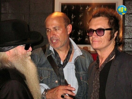 Dusty Hill and John Varvatos