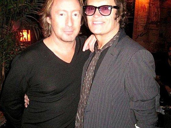 Glenn and Julian Lennon