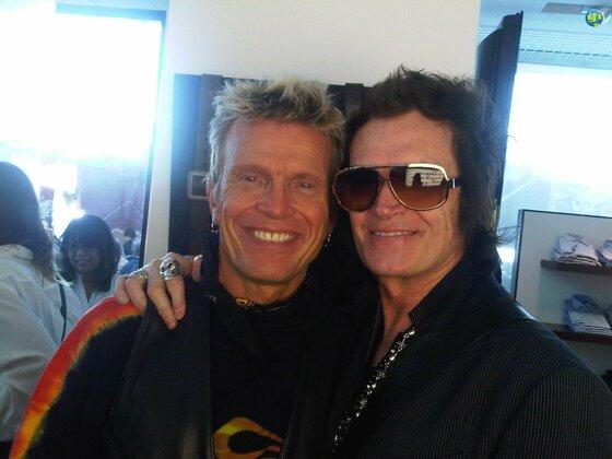 Billy Idol and Glenn