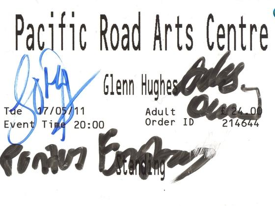 Birkenhead UK Autographed Ticket