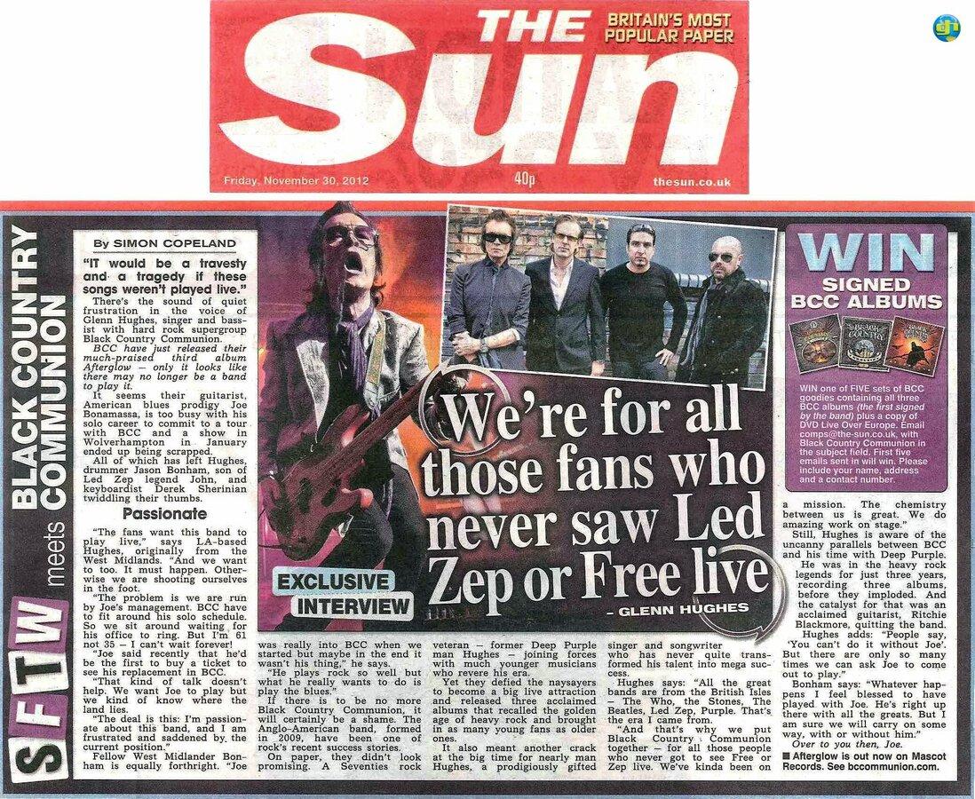 THE SUN November 30th, 2012
