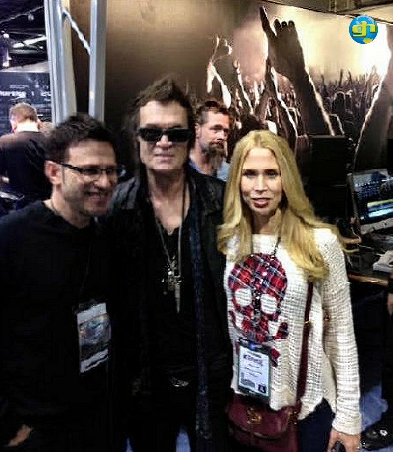 Paul and Kerrie Geary with Glenn Hughes