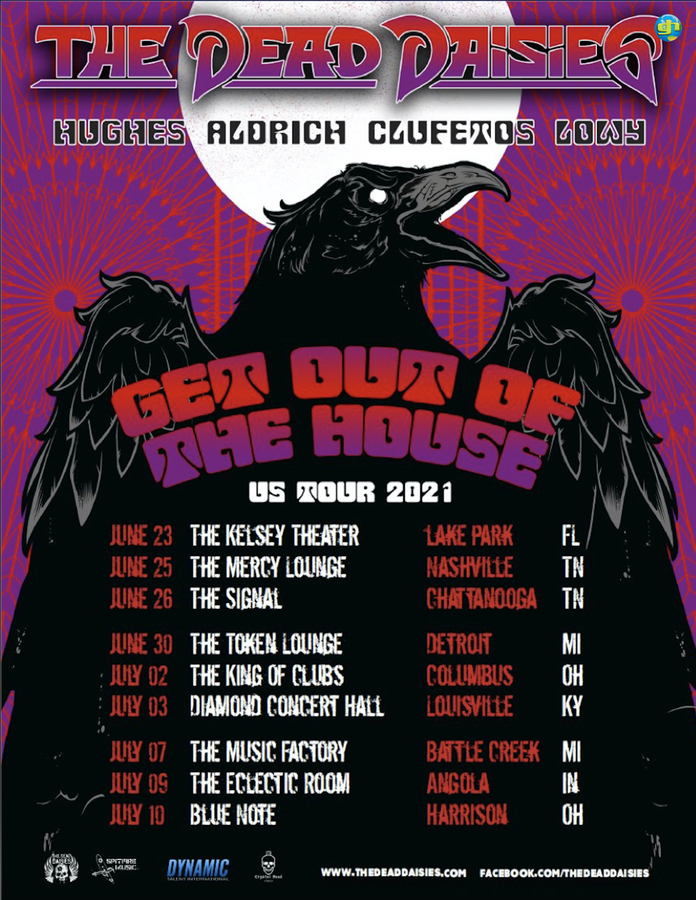 The Dead Daisies GET OUT OF THE HOUSE USA Tour 2021