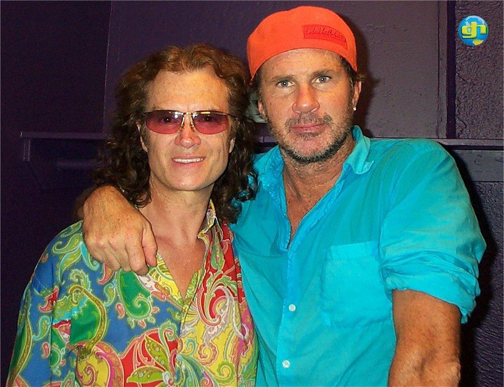 Glenn with Chad Smith