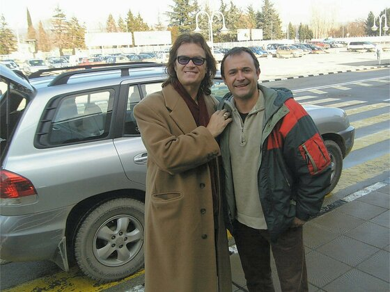 Glenn with Dimitar