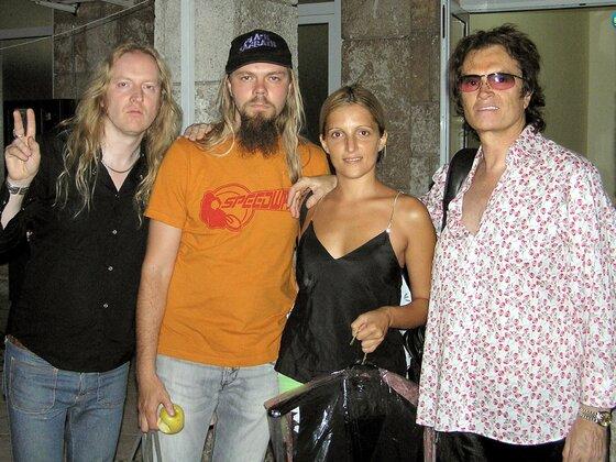 Dani with Glenn and crew