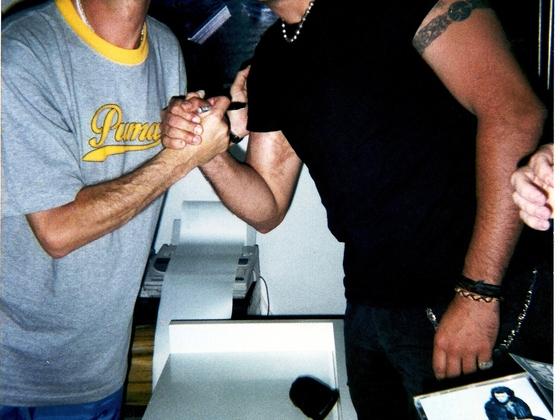 Glenn and me in MADRID 2001