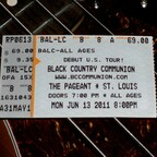 Ticket from BCC show in St. Louis  2011