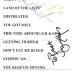 set list from BB Kings in New York