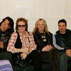 Glenn with George Lynch, Doug Aldrich & Derek Sherinian