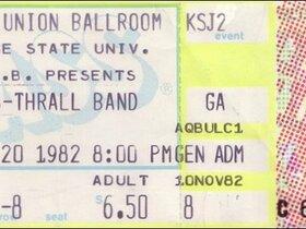 Ticket Stub 1982 - San Jose, CA
